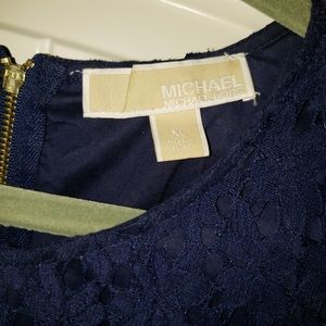 Michael Kors navy blue lace top worn only once
